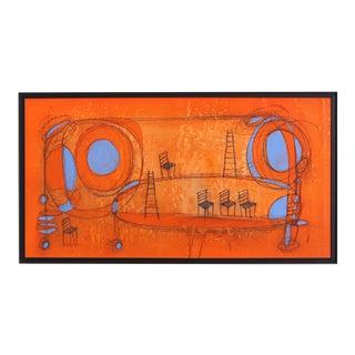 """Happy Landscape 3"" Original Artwork by Sergio Valenzuela For Sale"