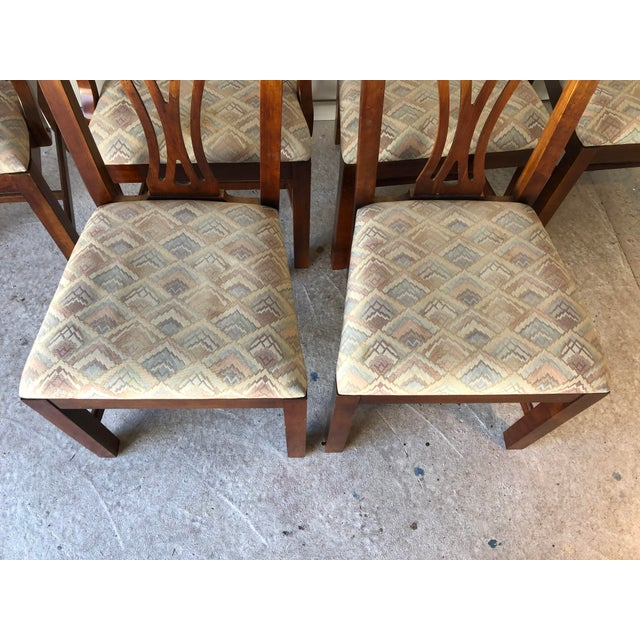Thomasville Thomasville Dining Chair Set (6) Fruitwood Excellent For Sale - Image 4 of 9