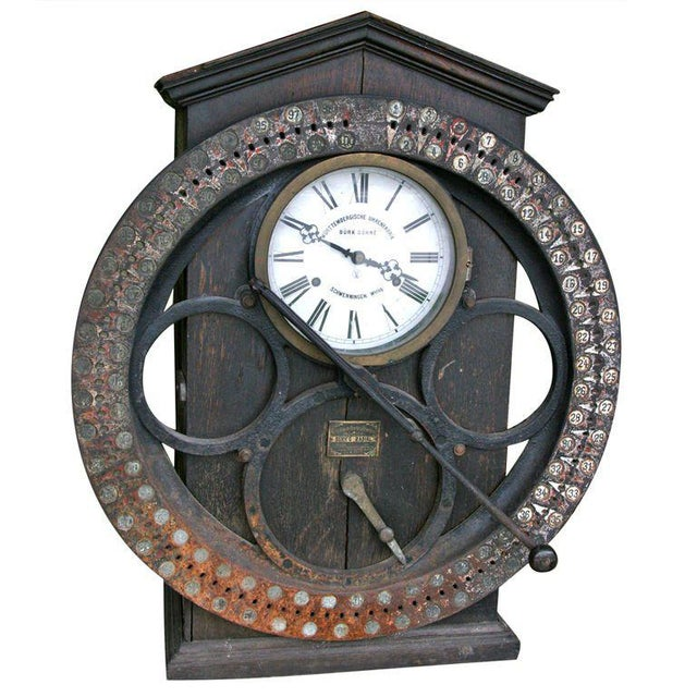 German Punching Clock 1920s For Sale - Image 10 of 10