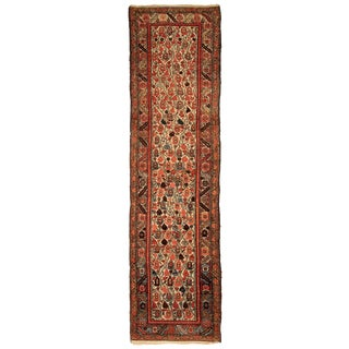 1900s Vintage Persi Senneh Rug- 3′2″ × 12′9″ For Sale