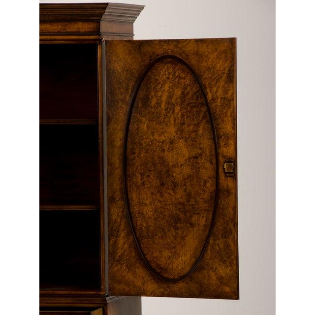English Burl Walnut Linen Press For Sale - Image 10 of 10