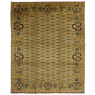 1980s Turkish Oushak Rug - 11′2″ × 13′8″ For Sale
