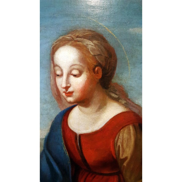 Italian Madonna With Child -17th Century Italian Old Painting For Sale - Image 3 of 10