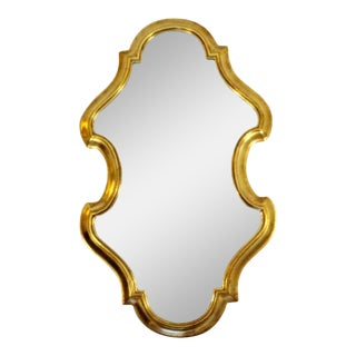 Mid Century Modern Hollywood Regency Gold Gilt Wall Mirror by La Barge 1960s For Sale