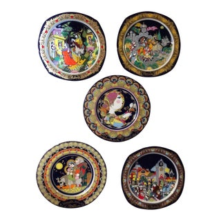 Bjorn Wiinblad for Rosenthal Christmas Plates - Set of 5