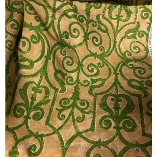 Tyler Hall Esplanade Screen Print Fabric For Sale