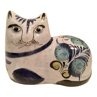 Ceramic Cat Made in Mexico For Sale