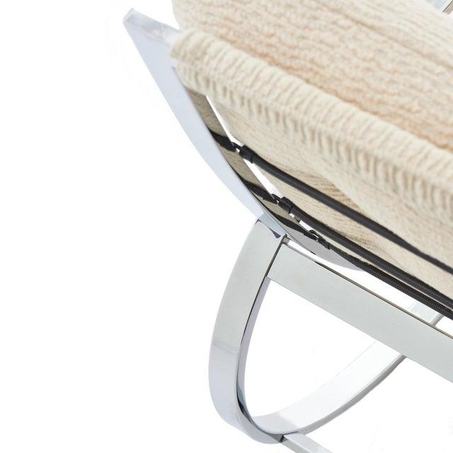 Mid Century Modern Renato Zevi for Selig 'Ellipse' Chrome Rocking Chair For Sale In Chicago - Image 6 of 9