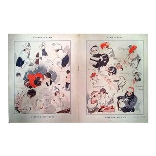 """Arsène Brivot 1923 """"Quarte A Cinq- Cinq A Sept"""" Le Sourire Print"""