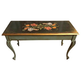 1950s Vintage Hand Painted Piano Bench For Sale