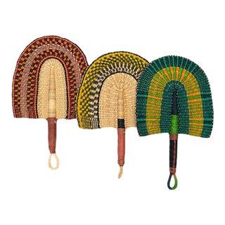 Ghanan Handwoven Bolga Fans - Set of 3