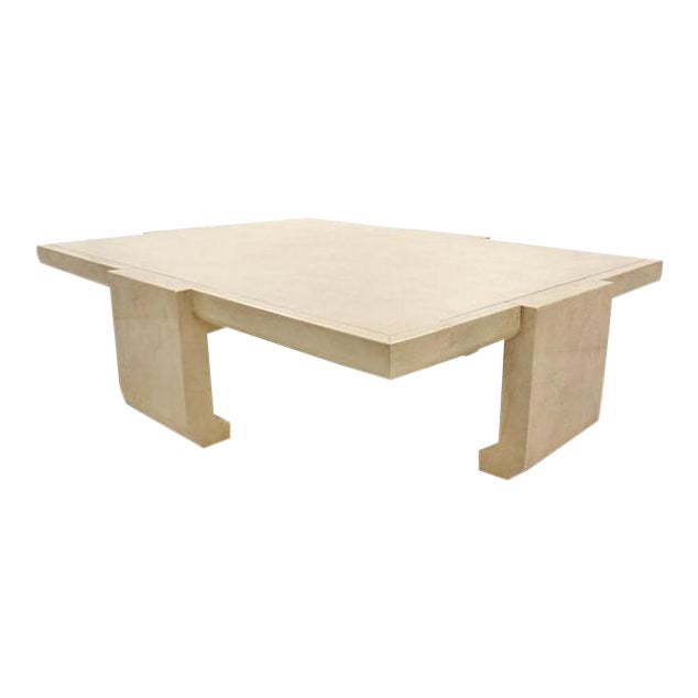 Baker Ming Leather Coffee Table - Image 1 of 7