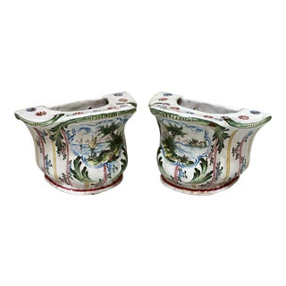 Antique French Bough Pots - a Pair For Sale