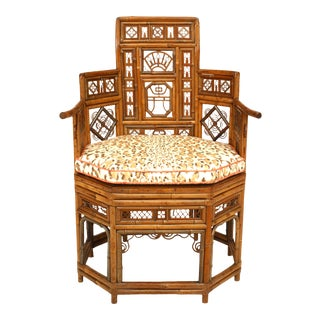 English Regency Bamboo Arm Chair For Sale