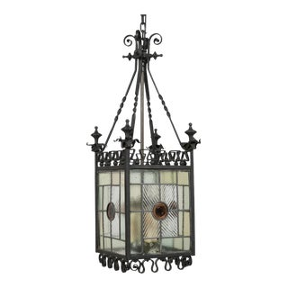 English Arts and Crafts Hanging Lantern For Sale