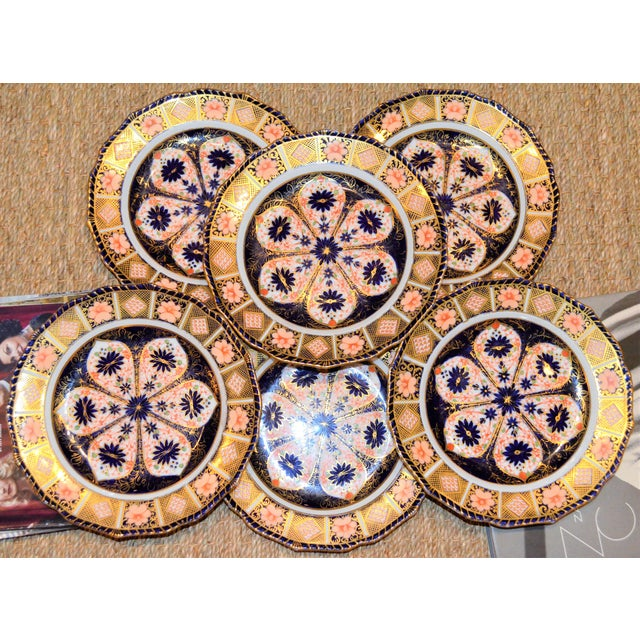 Royal Crown Derby Imari Rope Edge Plates - Set of 6 - Image 3 of 10
