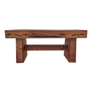 Modern Handmade Redwood Russian River Bench For Sale