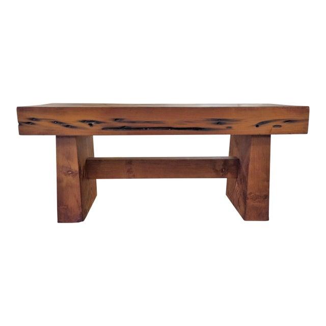 Modern Handmade Redwood Russian River Bench For Sale