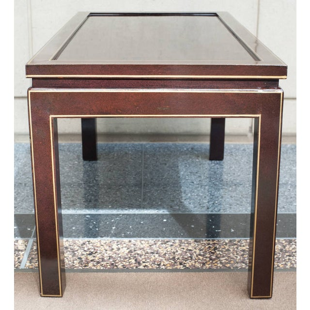 Wood Contemporary Black Lacquer Coffee or Cocktail Table For Sale - Image 7 of 10