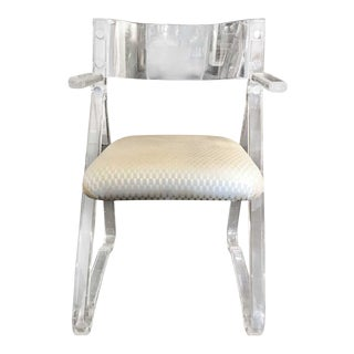 Italian Modern Mid Centruy Lucite Armchair With For Sale