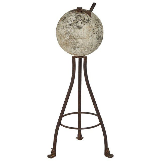19th Century Sundial in Stone and Iron For Sale - Image 5 of 5
