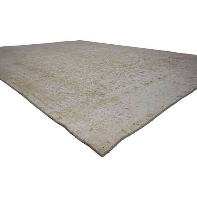 Abstract 20th Century Turkish Rug With Muted, Neutral Colors For Sale - Image 3 of 5