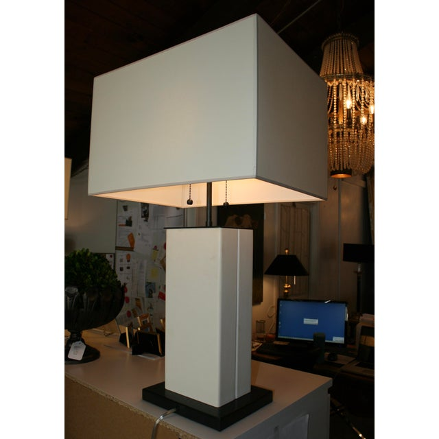 Modern Dixon Parchment Leather Lamp For Sale - Image 3 of 4