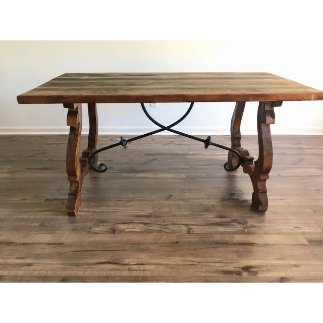 19th Century Spanish Trestle Table or Desk For Sale - Image 4 of 10
