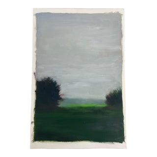 Original Landscape Painting, Oil on Arches Paper For Sale