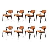 Image of Mid Century Modern Danish Kai Kristiansen Dining Chairs- Set of 8 For Sale