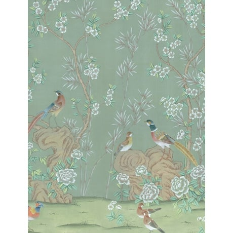 Chinoiserie Casa Cosima Hadrian Diptych Wallpaper Mural - Sample For Sale - Image 3 of 3
