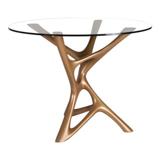 Amorph Ava Gold Finish Center / Dining Table For Sale