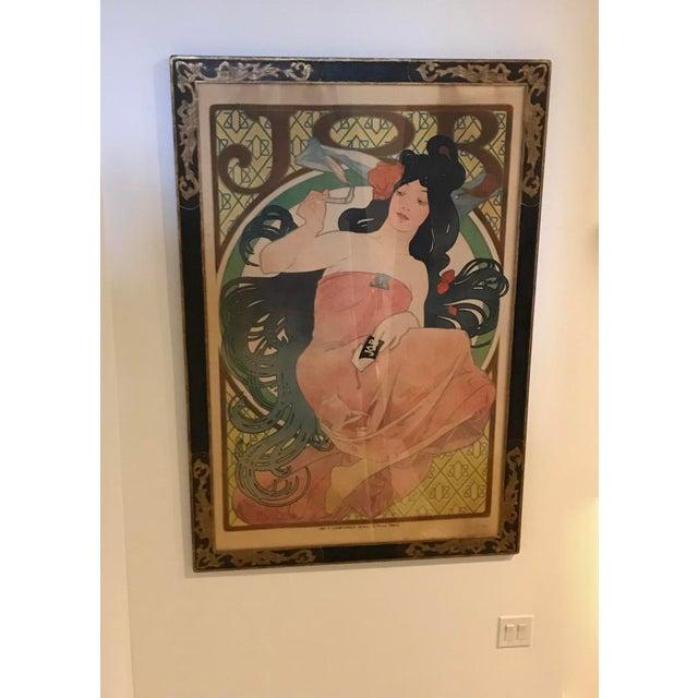 Late 19th Century Art Nouveau Alphonse Mucha Original Job Poster, 1898 For Sale - Image 5 of 13