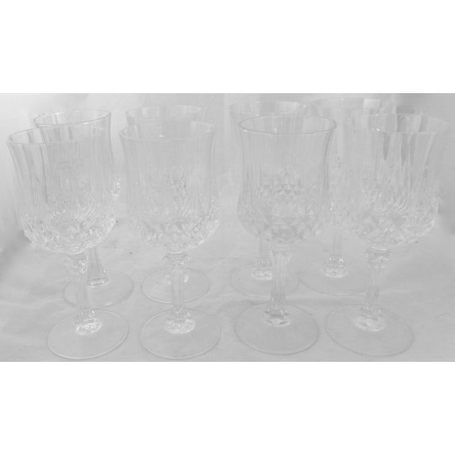 Vintage French Crystal Wine Glasses - Set of 8 - Image 2 of 6