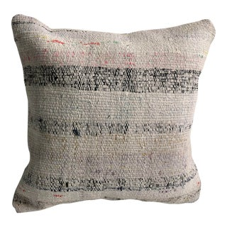 Vintage Turkish Anatolian Tribal Cotton Kilim Pillow For Sale