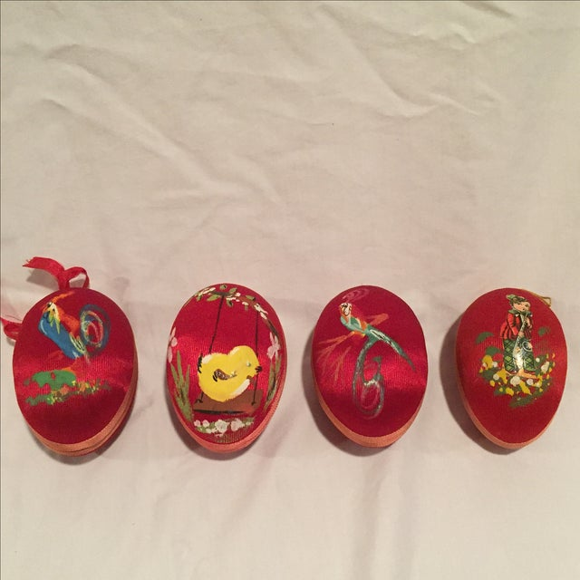 Antique Satin Ornaments - Set of 9 - Image 4 of 8