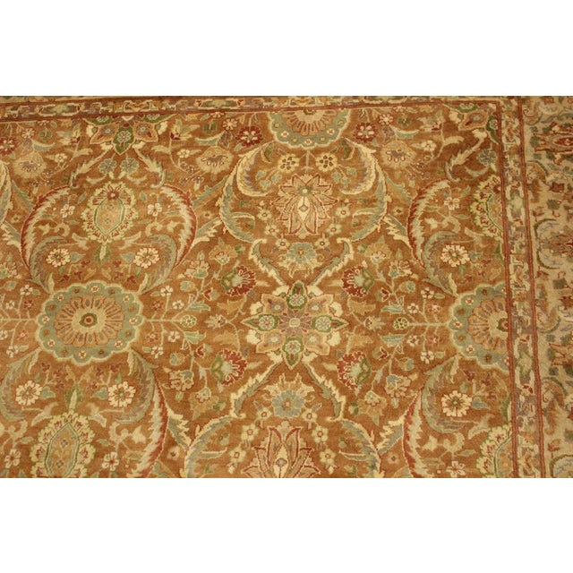 2000s Pak-Persian Jenise Lt. Brown/Lt. Tan Wool Rug - 4'7 X 6'11 For Sale - Image 5 of 8