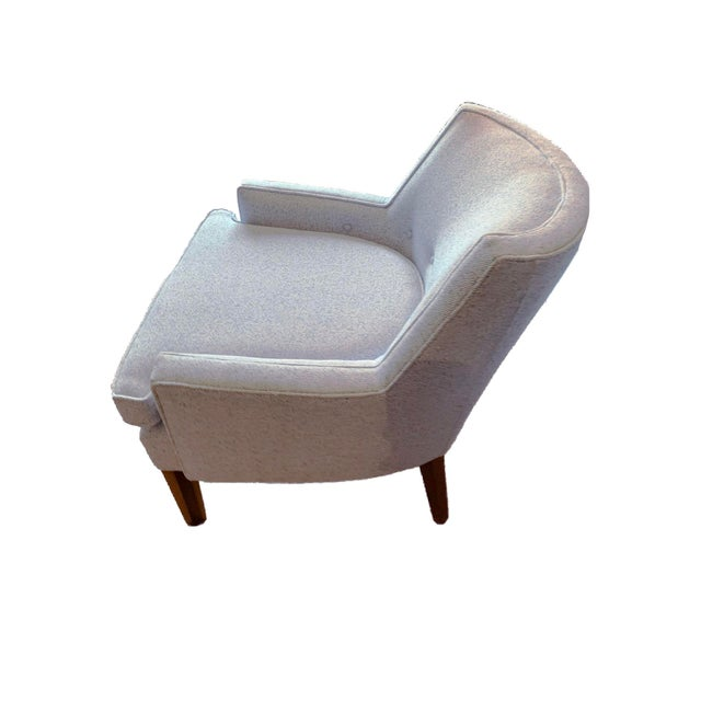 Very nice light blue and white tweed side chairs, perfect for the living room, office or bedroom. They are very versatile...