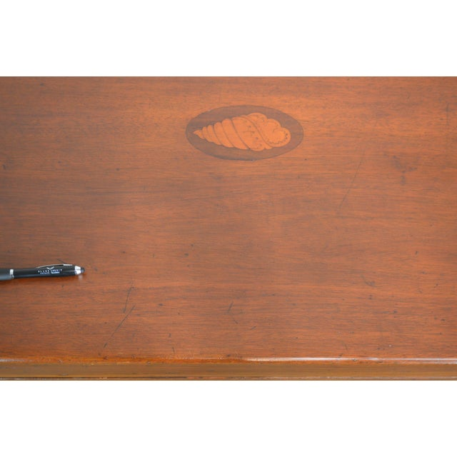 Coffee Table Made From Antique Mahogany Bagatelle Game Box on Recent Wood Frame For Sale - Image 9 of 12