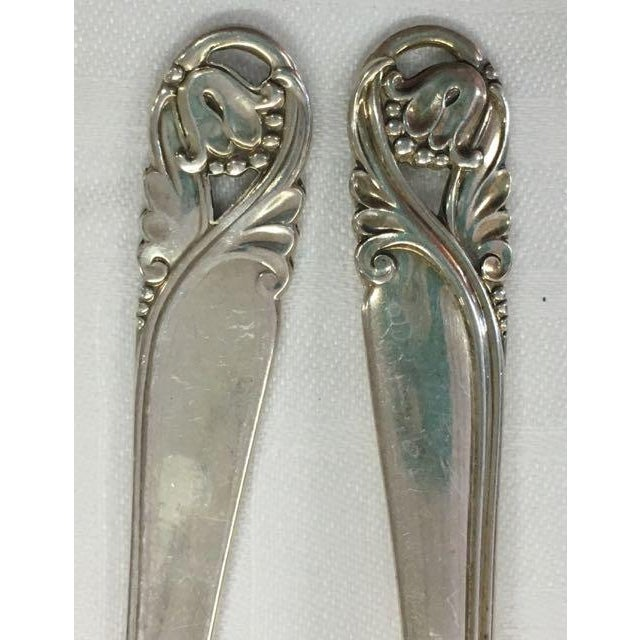 3c3b0d005bcae Art Nouveau Spring Glory Sterling Silver - International Silver Co - Service  for 12 For Sale