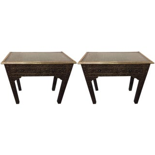 Compatible Metal over Wood Royal Wall Console - A Pair For Sale