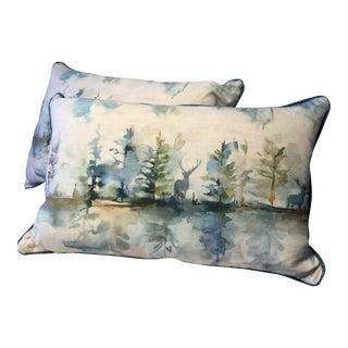 Bolsters Deer in the Forest Made in Wales - a Pair For Sale