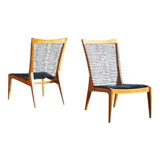 Pair of Louis Sognot Lounge Chairs, France, 1950s For Sale
