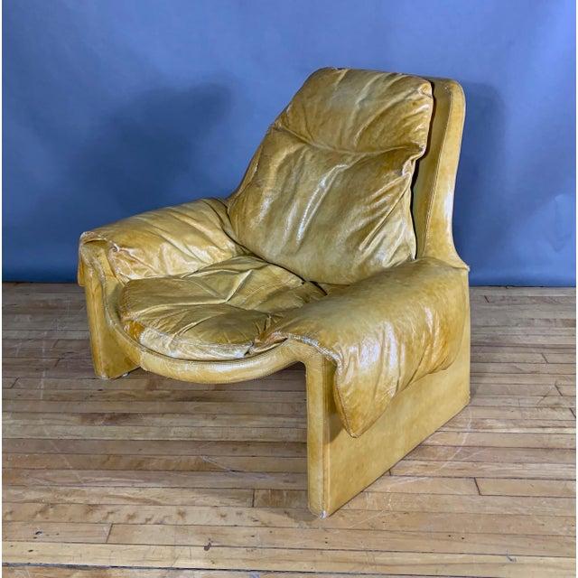 Tan 1960s Vittorio Introini for Saporiti Lounge & Ottoman For Sale - Image 8 of 13