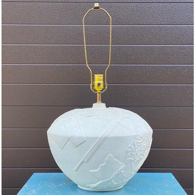 Bon Art Postmodern Plaster Table Lamp For Sale - Image 13 of 13