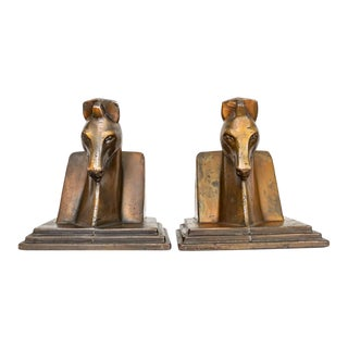 Trojan Horse Bookends | Art Deco Copper Plated For Sale