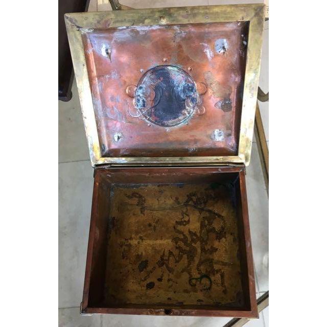 Vienna Secessionist Copper Trinket Box For Sale - Image 9 of 11