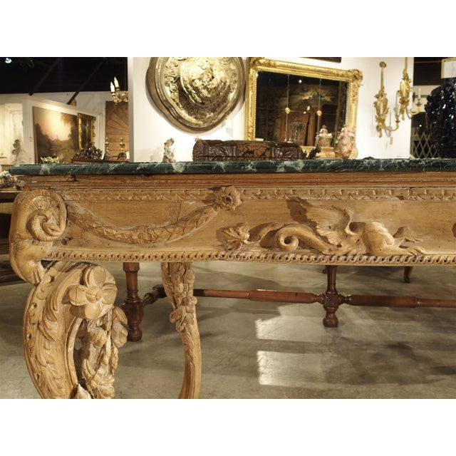 Green Antique English Limewood Console Table, Circa 1785 For Sale - Image 8 of 11