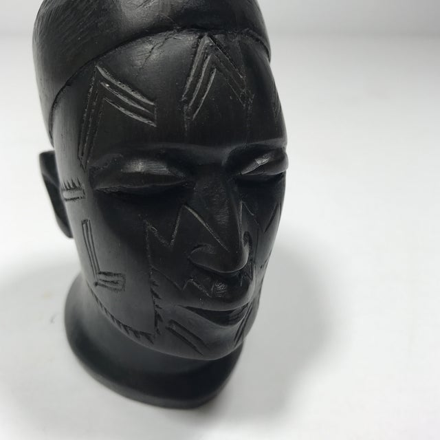 Antique Carved Wooden Head - Image 5 of 11