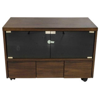 1960s Danish Modern Rosewood Tv or Media Stand For Sale